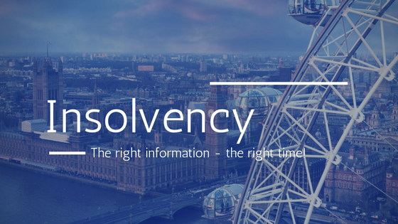 Insolvency - the right information at the right time