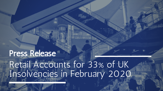 UK retail insolvencies in February 2020 amid Covid-19 crisis