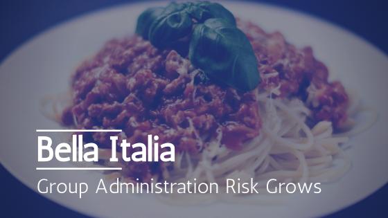 Administration risk for Bella Italia