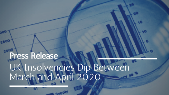 Businesses in administration in the UK in April 2020